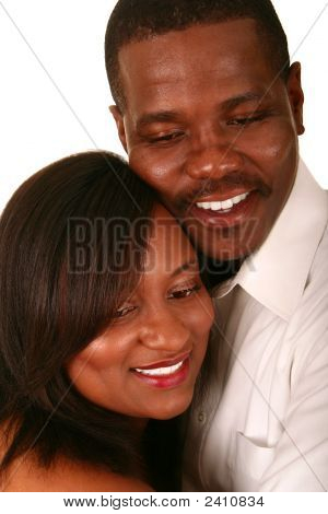 Close Up African American Couple