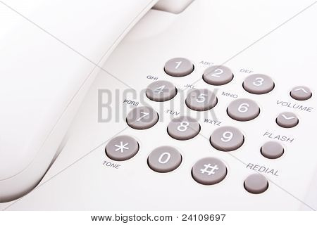 Grey Phone Keypad