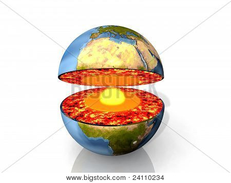 Earth and magma