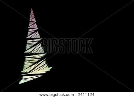 Abstract Christmas Tree Concept And Copyspace