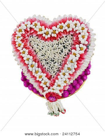 Thai Flower Heart Shaped Garland