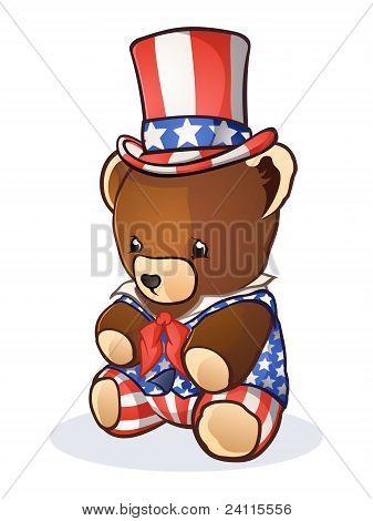 Teddybär Onkel sam