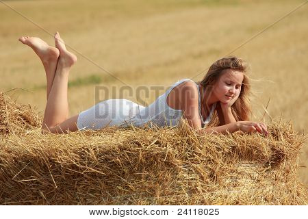 Girl On Straw