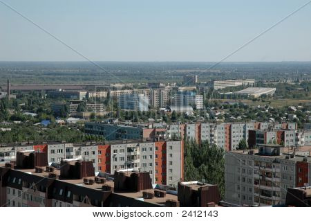 Russia. The City Of Volgograd. A Kind On City From Height Of The Bird'S Flight.