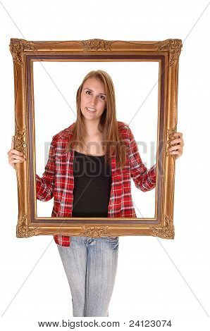 Girl In Picture Frame.