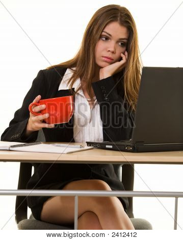 Bored Secretary