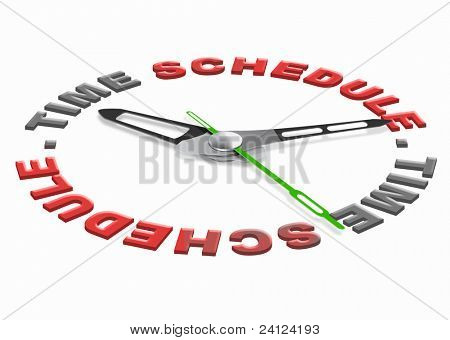 time schedule planning tasks in agenda setting goals and organize the day or meeting appointment on the agenda time management and daily organization
