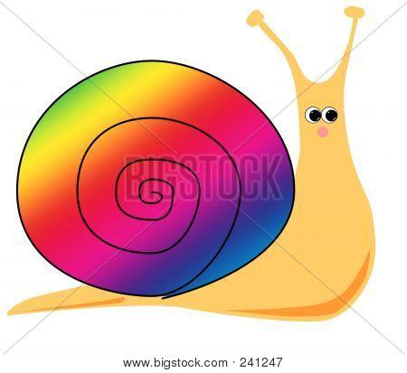 Cartoon Snail (rainbow)