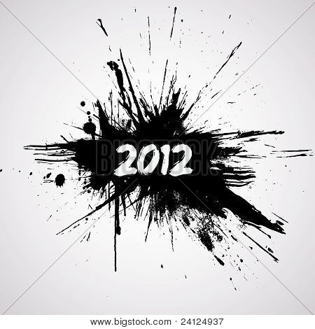 New year grunge design