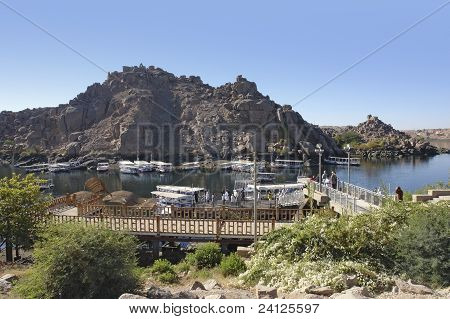 Scenery Around The Temple Of Philae In Egypt