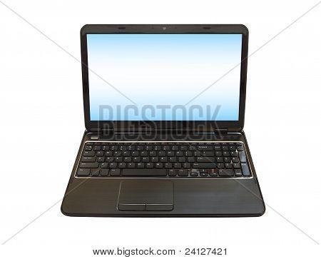 laptop PC isolated on white background