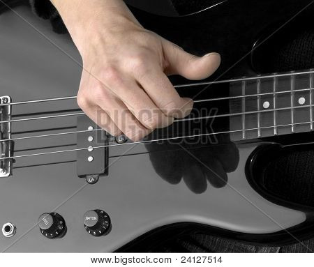 Hand And Electric Bass