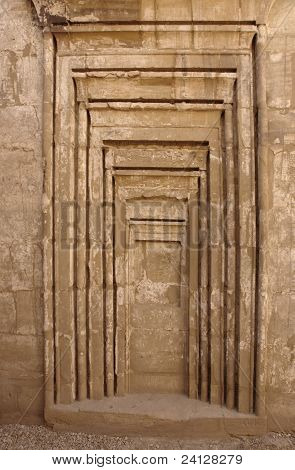Detail At Precinct Of Amun-re In Egypt