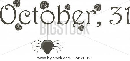 October 31 (title) with spider