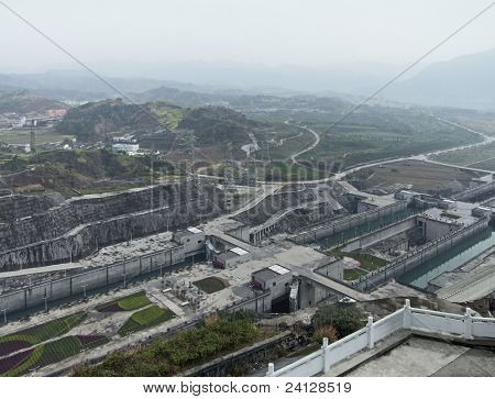 Three Gorges Dam At Yangtze River