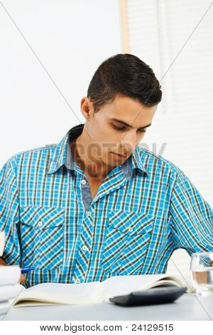 Young Man Concentrating