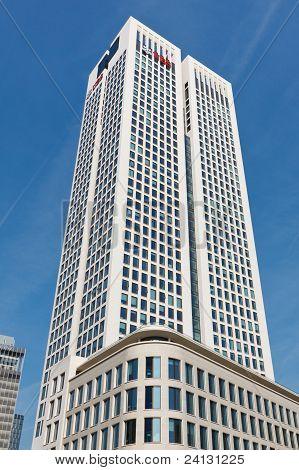 Opernturm Skyscraper In Frankfurt, Germany