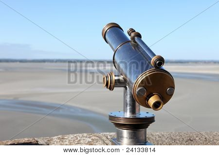Metallic pay per view monocular