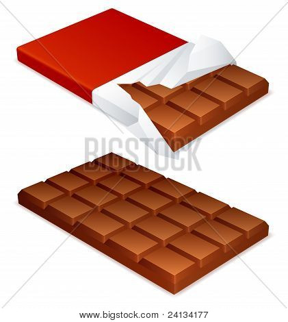 Barra de chocolate.