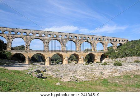 Aquädukt Pont du Gard in Frankreich