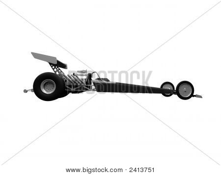 Dragster Isolated Side View