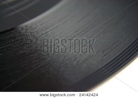 Close up of a single Vinyl Record with shallow DOF