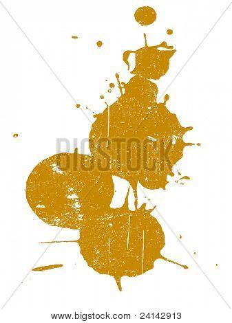 Grunge Splat - ist Hintergrund transparent, so dass sie auf andere Illustrationen oder Bilder überlagert
