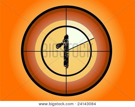 Orange and Red Circle Countdown at No 1 - (Vector Format)