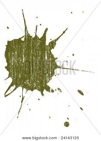 Grunge Splat - Hintergrund ist transparent, so dass sie auf andere Illustrationen oder Bilder überlagert.
