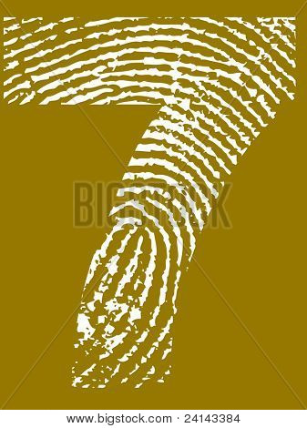 Fingerprint Number - 7 (Highly detailed grunge Number)