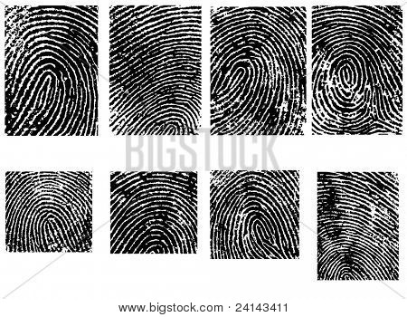 Fingerpinrt Crops  - 8 Separate vector illustrations