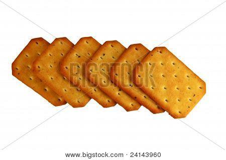 Haufen von salzige Cracker, Nori-Algen