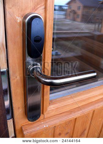 Locked Door With Keycard Identification System