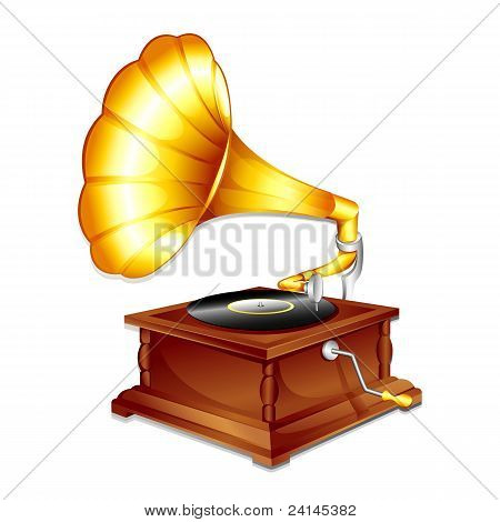 antique gramaphone