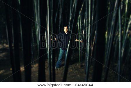 Cross Process, Man In Bamboo