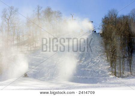 New Snow For The Ski Run