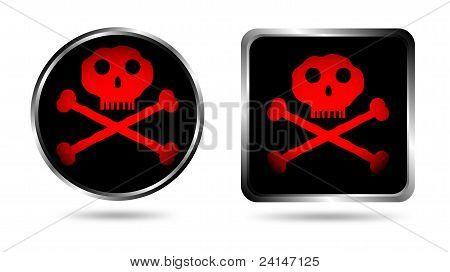 Dois botões com Jolly roger