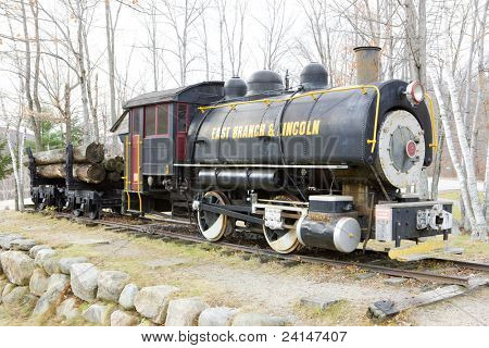 steam locomotive near Lincoln, New Hampshire, USA