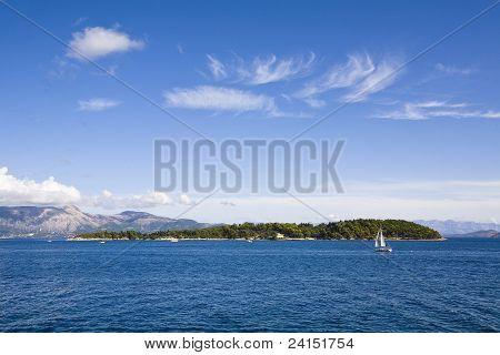Island of Ptychia Nisida, Corfu