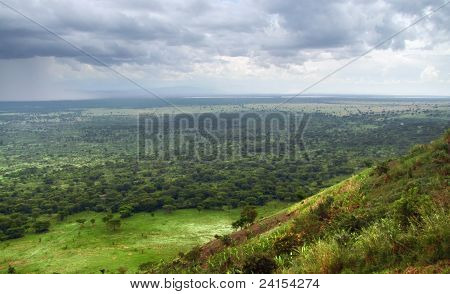 Queen Elizabeth National Park In Stormy Ambiance