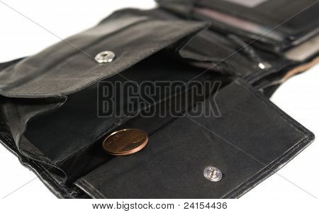 Black Leather Moneybag