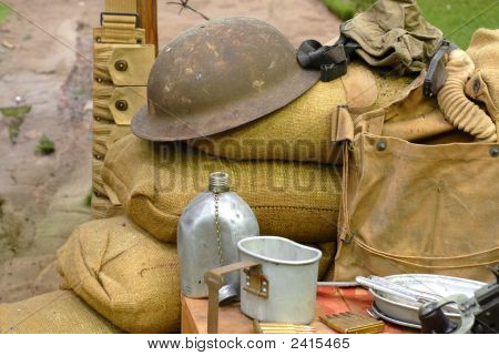 Items Displayed From A World War 2 Soldier
