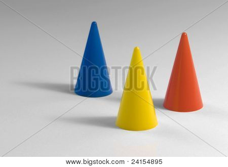Three Plastic Tapers