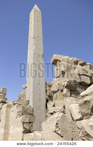 Obelisk Around Precinct Of Amun-re