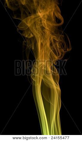 Colored Smoke In Black Back