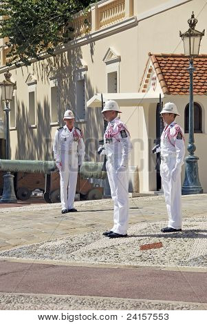 Monaco Soldiers Changing the guard