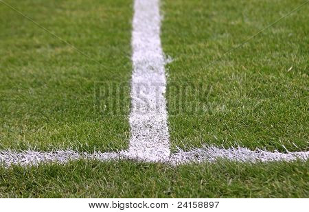 Green Football Soccer Field