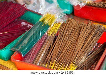 Incense Sticks On A Market