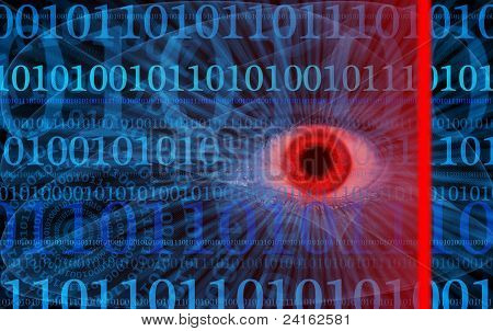 Abstract Internet Security Illustration