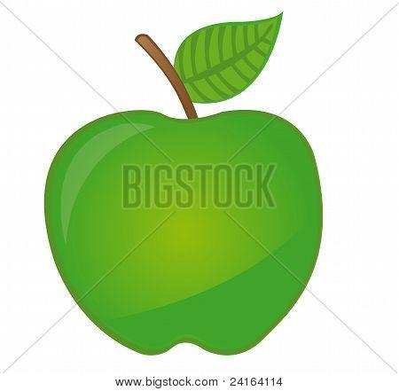 green apple cartoon